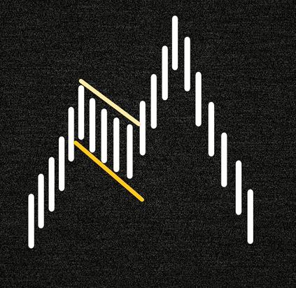 Левосторонняя расширенная v образная фигура вершины
