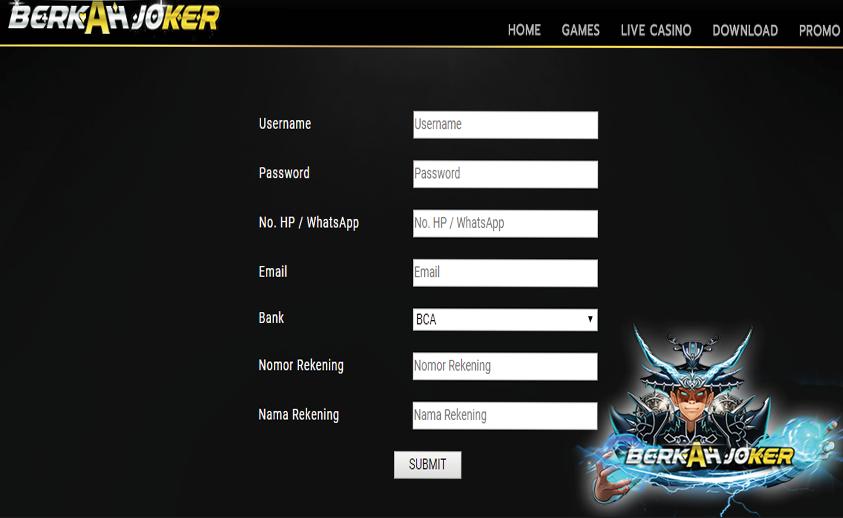 Berkah Joker Slot Online Tanpa Rekening Teletype