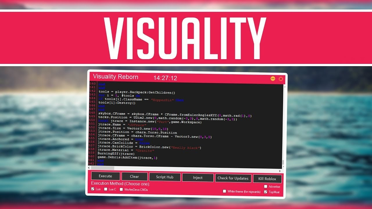 Visuality Roblox Hack Exploit Teletype