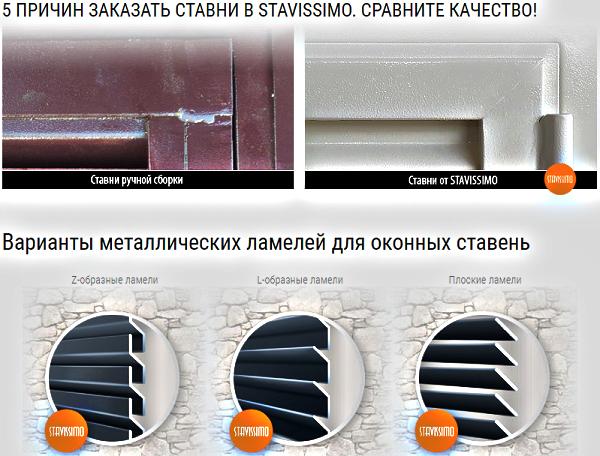 ставни металлические stavissimo.ru