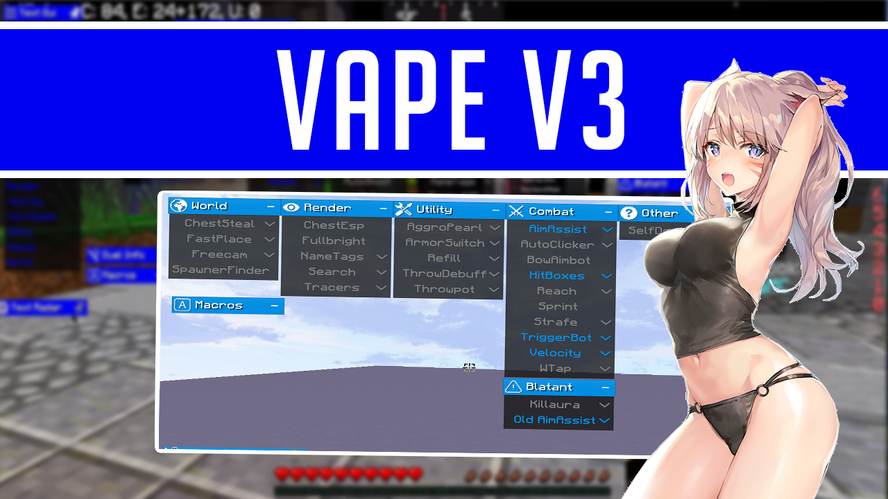 Minecraft Vape Hacked Client — Teletype