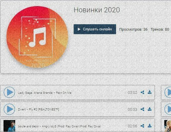 подборка музыки 2020
