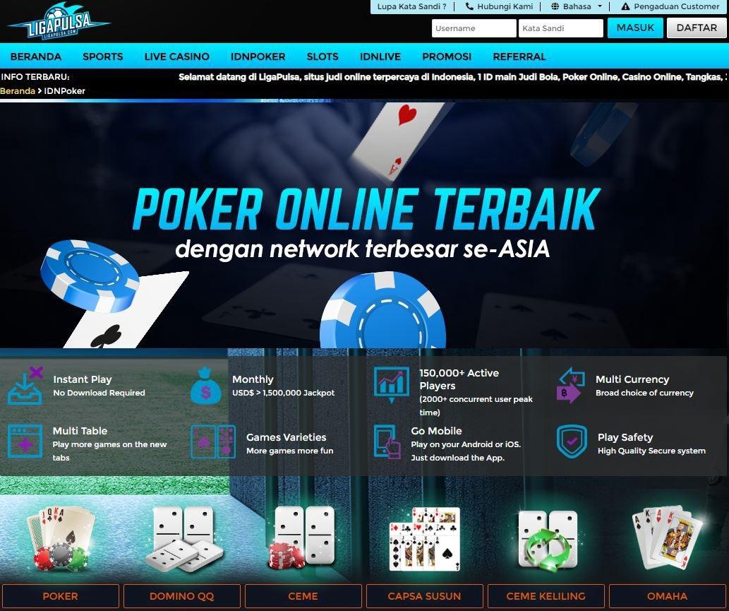 Agen Idn Poker Deposit Pulsa Tanpa Potongan Teletype