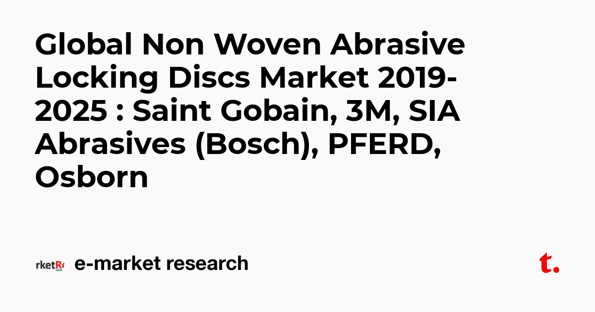 Global Non Woven Abrasive Locking Discs Market 2019-2025
