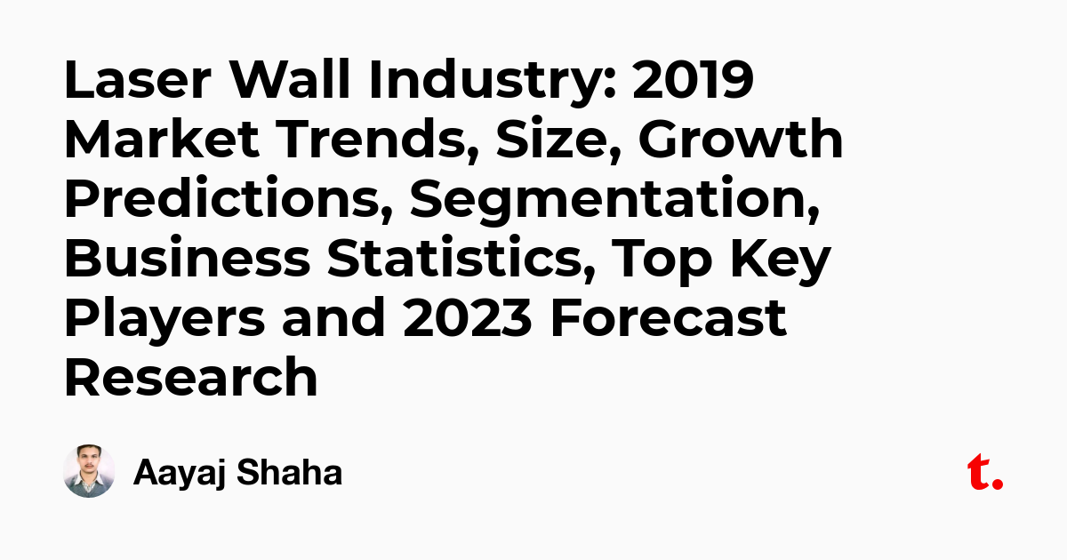 Laser Wall Industry: 2019 Market Trends, Size, Growth Predictions